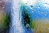 image of humidity  - Glass with natural water drops - JPG
