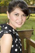 foto of asian woman  - A beautiful Asian women with cute smile - JPG