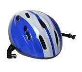 stock photo of blue things  - blue helmet on white background - JPG