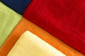 Background Pattern Of Colorful Towels