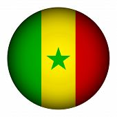 Senegal Flag Button.