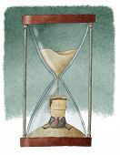 businessman in hourglass