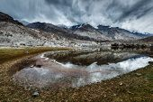 image of jammu kashmir  - Sacred mountain lake Lohan Tso in Himalayas - JPG