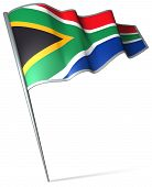 picture of nelson mandela  - This is an illustration of flag of South Africa - JPG