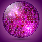 Vector abstract shining crystal ball