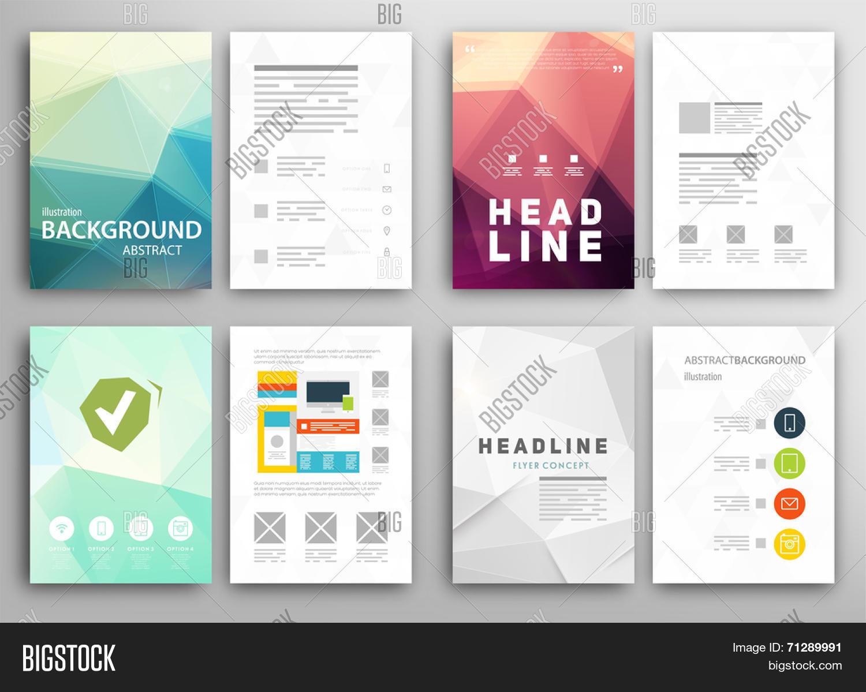 Set Flyer, Brochure Design Vector & Photo | Bigstock