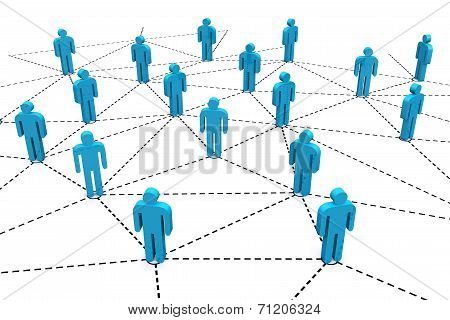 Business Human Social Network.