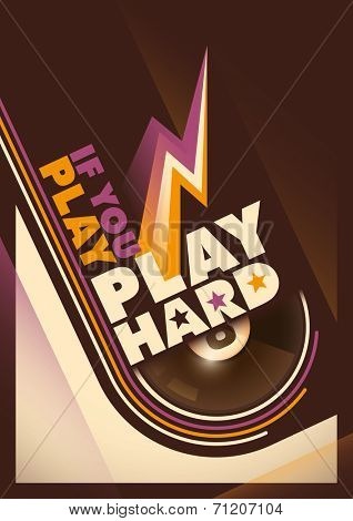 Modern design of billiards poster. Vector Illustration.