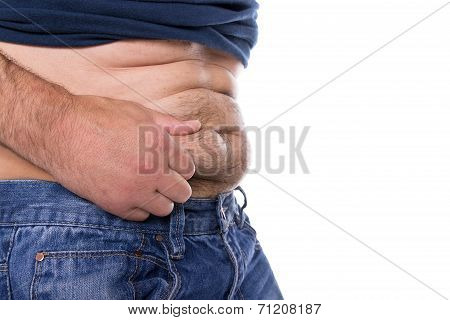 Man With Belly Fat