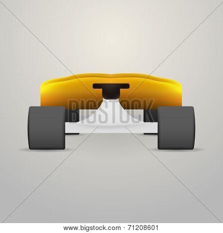 Vector illustration of yellow longboard