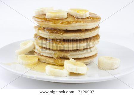 Banana Pancakes oder crepes