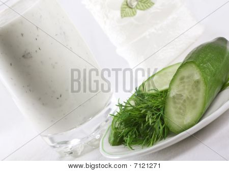 Kefir With Cucumber And Dill