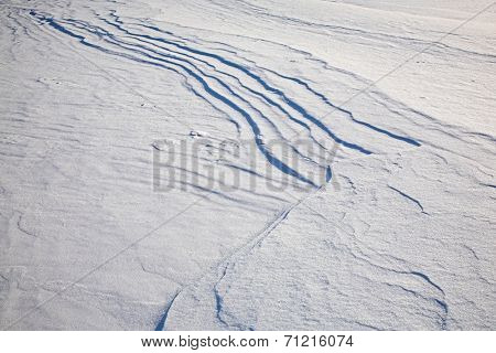 snow surface on winter baikal