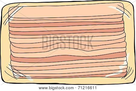 Isolated Bacon Package