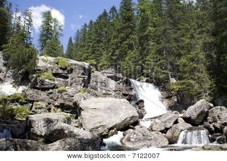Stock Photo: High Tatras -   studenovodske  waterfalls - Slovakia