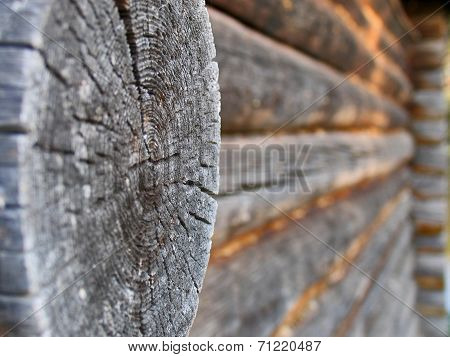 Core Of Timber On Wooden House