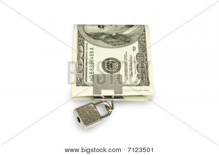 Dollar under lock and key