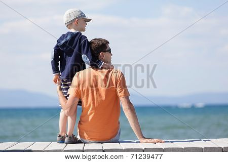 Family At Lake Vacation