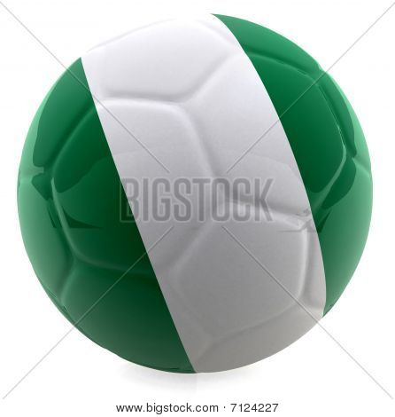 3D Nigeria Football