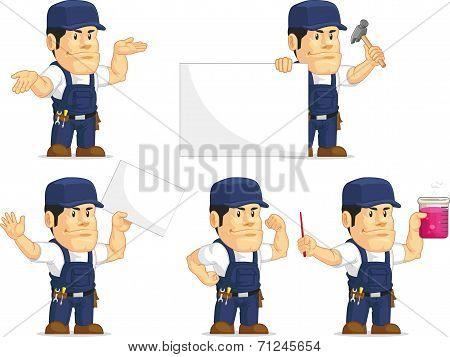 Strong Mechanic Mascot 8