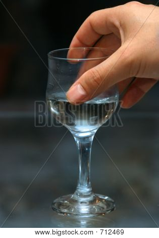 Glass With Alcohol