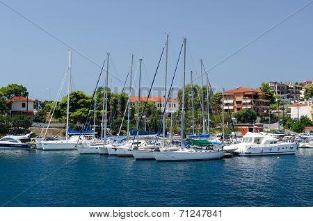 Yacht At Mooring, Neos Marmaras, Greece