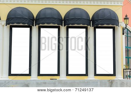 Awnings With Yellow Wall