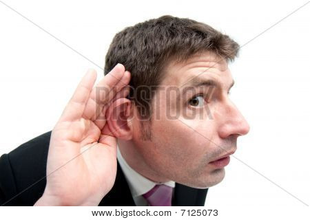 Businessman Listening