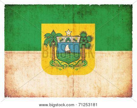 Grunge Flag Of Rio Grande Do Norte (brazil)