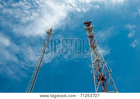 Communication Derrick Against The Blue Sky