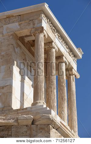 Acropolis Of Athens. Temple Of Athena Nike. Greece