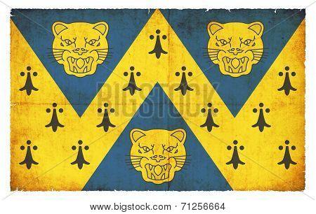 Grunge Flag Of Shropshire (great Britain)