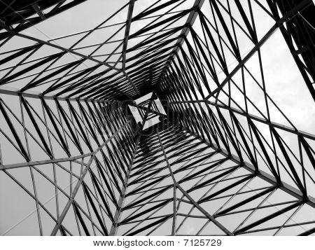 Inside Steel Tower Construction