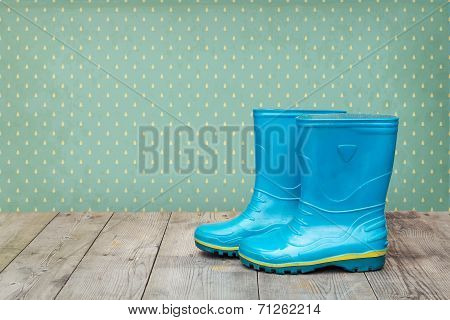 Blue Rubber Boots