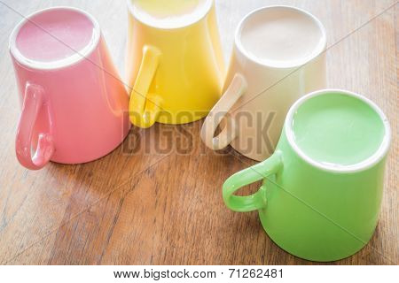 Set Of Colorful Ceramic Cups