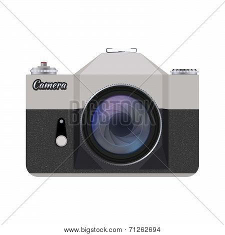 Vector retro style camera