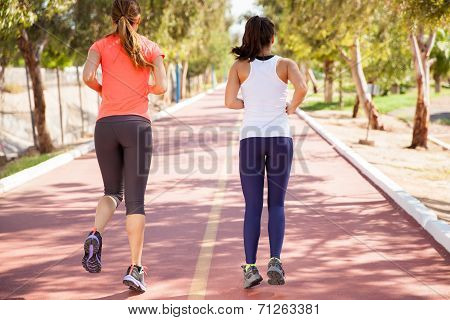 Friends Running Together
