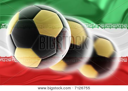 Flag Of Iran Wavy Soccer