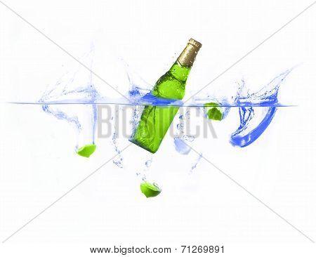 beer splashing
