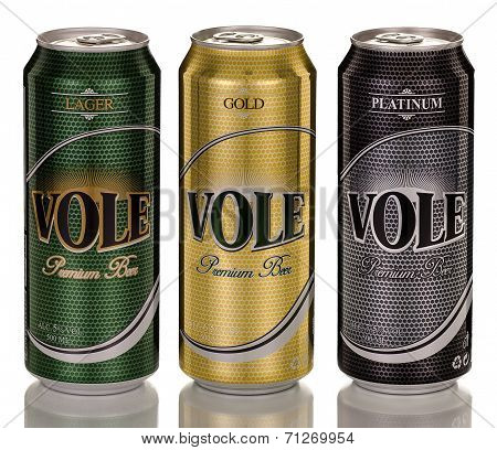 Three Cans Of Turkish Vole Premium Beer