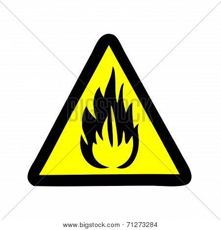fire symbol vector sign