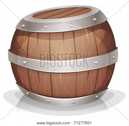 Cartoon-funny-wood-barrel