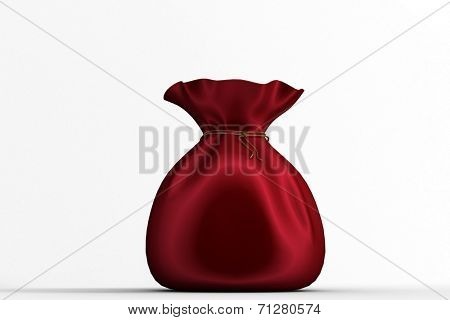 Santas sack full of gifts on white background