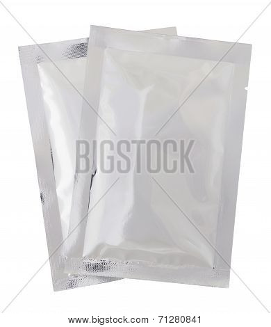 Plastic Package Bag Isolated On White With Clipping Path