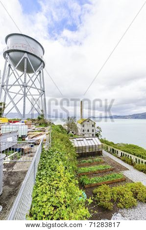 Alcatraz Garden & Water Tower, San Francisco, California