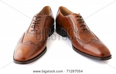 Male fashion shoes on white