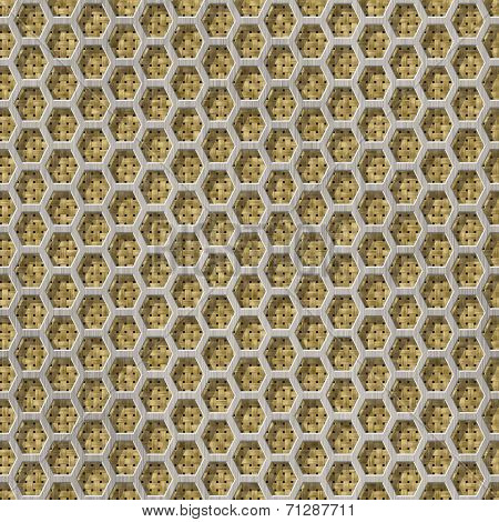 Wire Mesh Fabric Seamless Generated Hires Texture