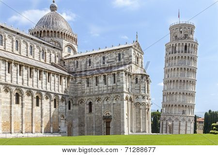 Cathedral And Tower Of Pisa. Torre Pendente