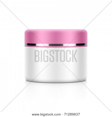 Cosmetic packaging, cream, powder or gel jar template for your design. Vector.