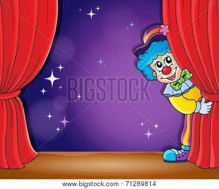 Clown thematics image 2 - eps10 vector illustration.